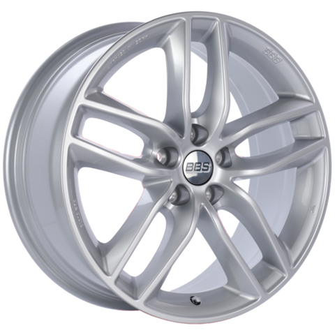 BBS SX 0504 19x8.5 5x108 ET45 Sport Silver Wheel -70mm PFS/Clip Required