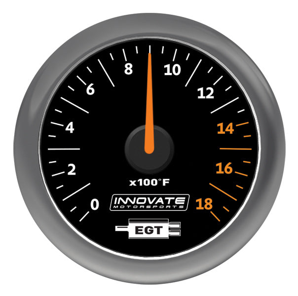 Innovate MTX-A Analog Exhaust Gas Temperature Gauge Kit (EGT) - Black Dial