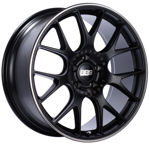 BBS CH-R 113 20x9 5x120 ET29 Satin Black Polished Rim Protector Wheel -82mm PFS/Clip Required