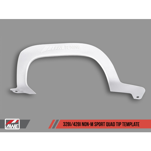 AWE Tuning BMW F3X 328i/428i Non-M Sport Quad Tip Marking Template