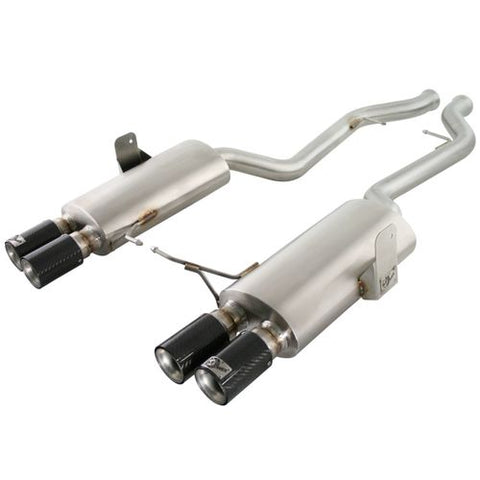 "aFe POWER MACH Force-Xp 2-1/2"" 304 Stainless Steel Cat-Back Exhaust System (Carbon Fiber Tips) BMW M3 (E90) 08-13 V8-4.0L (S65)"