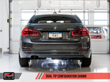 AWE Tuning BMW F3X 28i / 30i Touring Edition Axle-Back Exhaust Single Side - 80mm Chrome Silver Tips