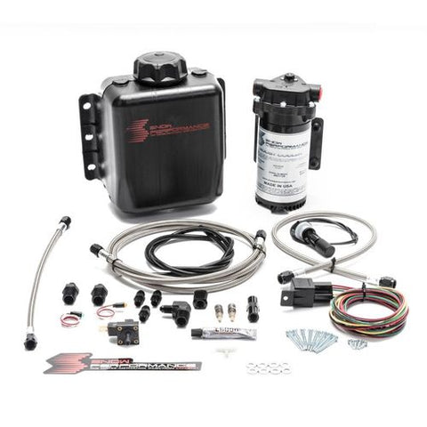 Snow Performance Stage 1 Boost Cooler Forced Induction Water-Methanol Injection Kit (Stainless Steel Braided Line, 4AN Fittings)