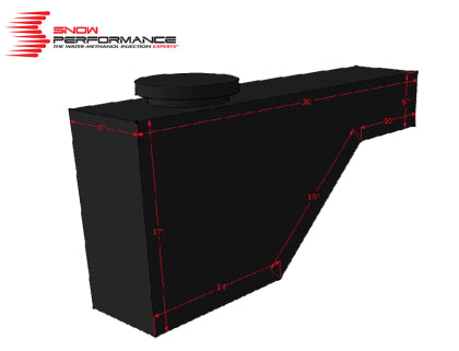 Snow Performance 10 Gallon Tool Box Style Reservoir (incl. brackets/check valve/tubing)
