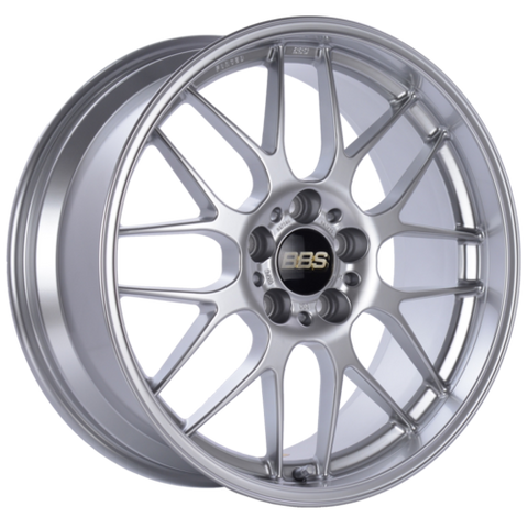 BBS RG-R 707H 18x8.5 5x120 ET22 Diamond Silver Wheel -82mm PFS/Clip Required