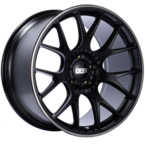 BBS CH-R 125 20x10.5 5x114.3 ET24 CB66 Satin Black Polished Rim Protector Wheel