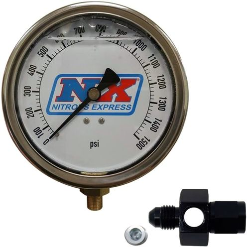 Nitrous Express Nitrous Pressure Gauge 4in-High Accuracy 6AN
