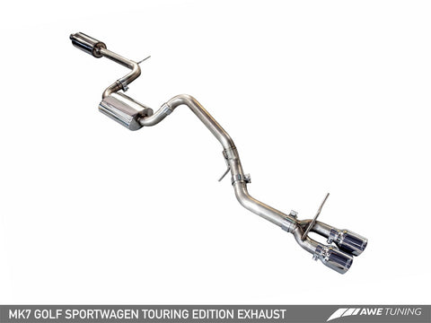 AWE Tuning VW MK7 Golf SportWagen Touring Edition Exhaust w/Diamond Black Tips (90mm)