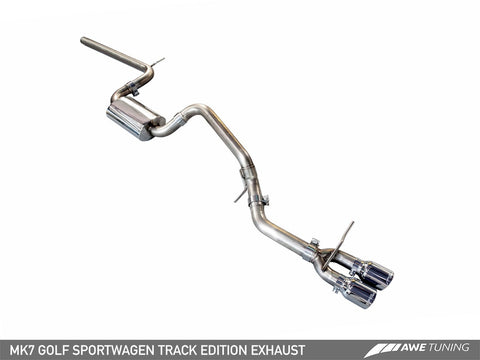 AWE Tuning VW MK7 Golf SportWagen Track Edition Exhaust w/Chrome Silver Tips (90mm)