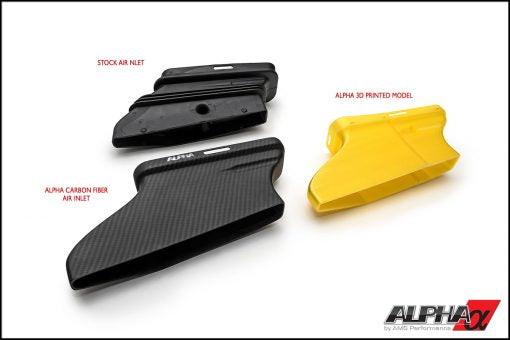 AMS Performance Alpha Performance Mercedes-Benz 2.0L M133 AMG Carbon Fiber Cold Air Inlet Duct & Air Box Lid