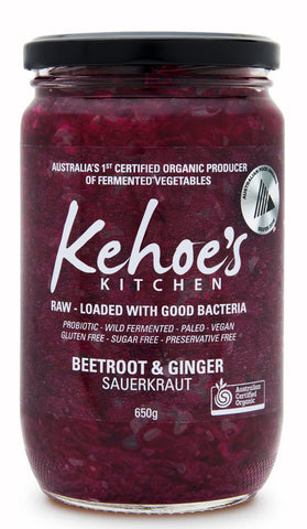 Beetroot & Ginger Sauerkraut
