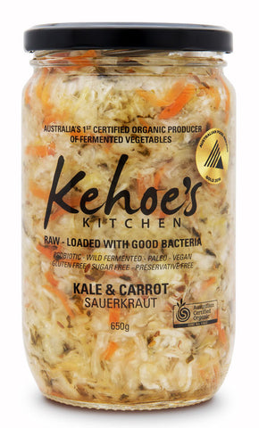 Kale & Carrot Sauerkraut Kehoe's Kitchen