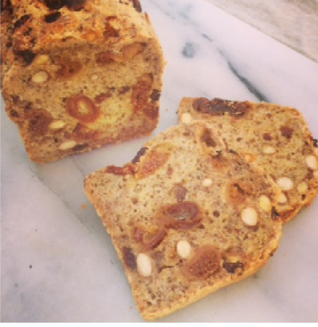 Nonies Gluten Free Bread - Fig, Orange, Almond