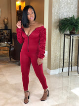 "The""Red Ruffle Jumpsuit"""