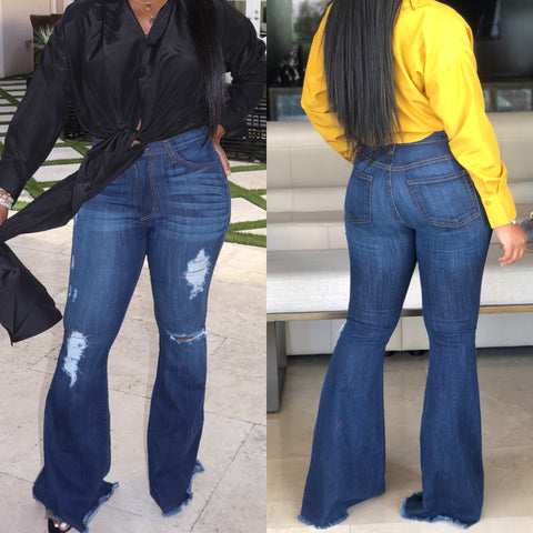 "The ""Posh"" Dark Denim High-waist Jeans"