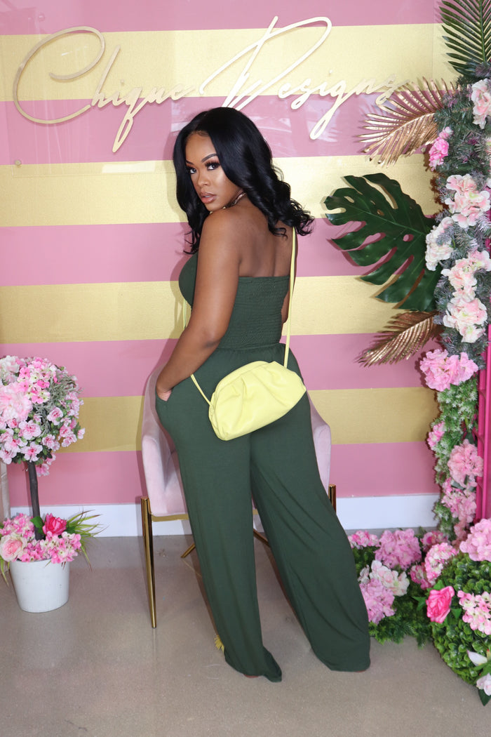 "The ""Me, myself and I"" Army Green Jumpsuit"