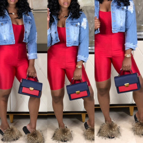 "The""Color Block Navy Tote"""