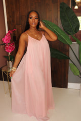 "The ""Esther"" Sheer Pink Jumpsuit"