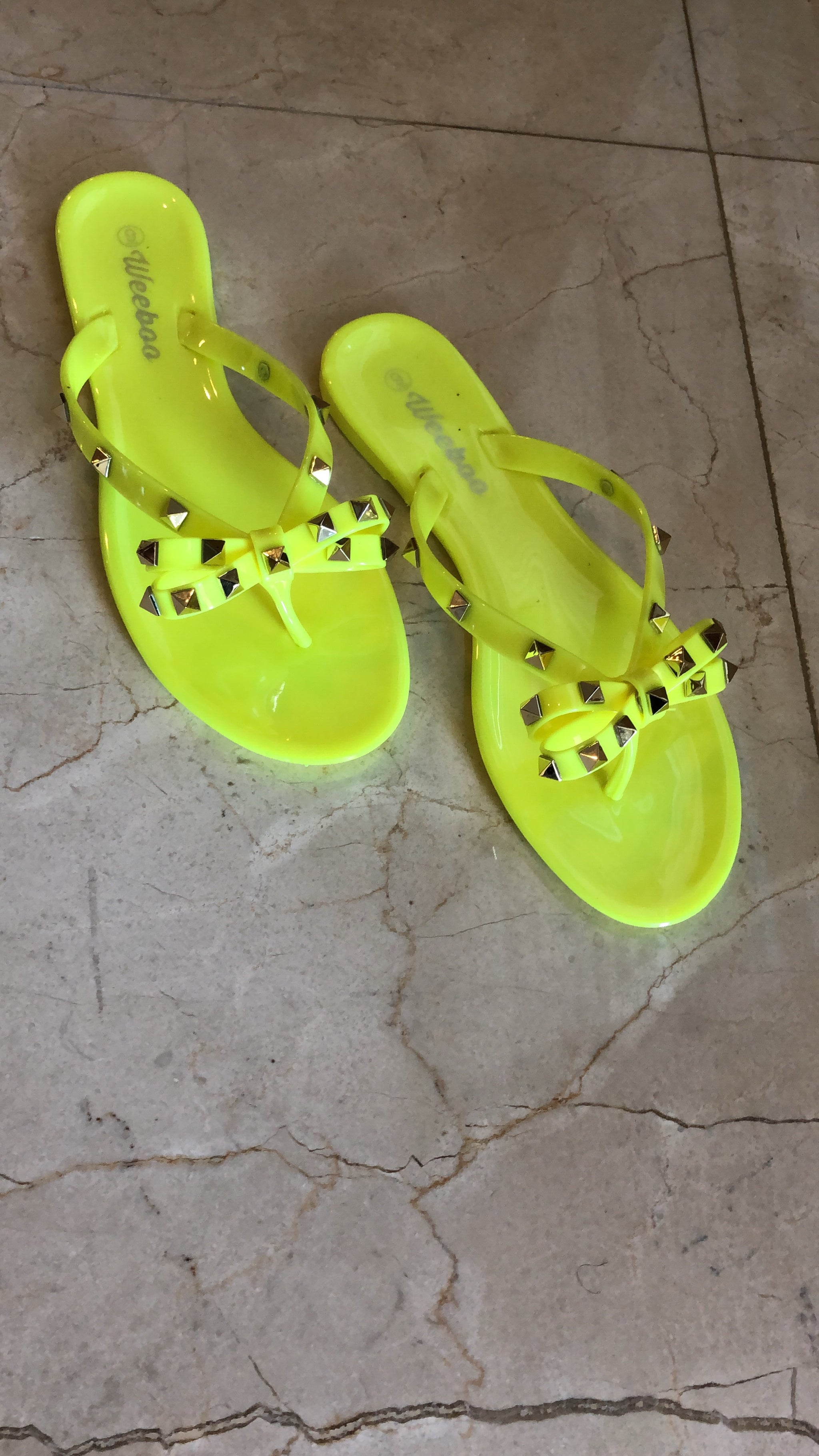 "The ""Beach Day"" Neon Green Sandals (Final Sale)"