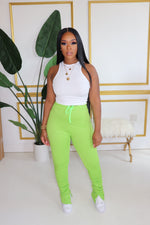 "The "" Green"" Stacked Pants"