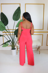 "The ""Risky Moves"" Red Jumpsuit"