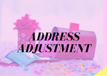 Address Adjustment Fee