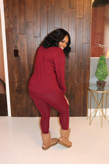 "The "" Laid Back"" Burgundy Set"