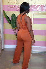 "The ""Sarah"" Rust Jumpsuit"