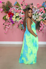"The ""Bella Bella"" Neon Tye-Dye Dress"
