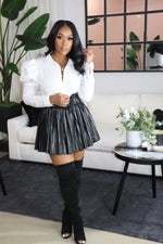 "The ""Diva"" Black Skort Skirt"