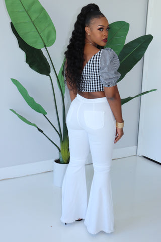 "The ""Switch It Up"" Black & White Top"