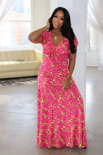 "The ""Get Away"" Pink Maxi Dress"
