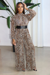 "The ""More than a Woman"" Leopard Jumpsuit"