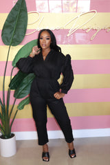 "The ""It's Showtime"" Black Jumpsuit"
