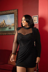 "The""Black Mesh Twist"" Dress"