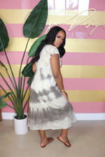 "The ""Cloud V-neck"" Tye-Dye Dress"