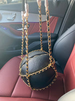 "The ""Basketball Chain"" Black Purse"