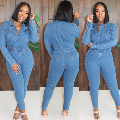 "The ""Denim"" Jumpsuit"
