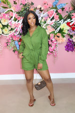 "The ""Take it Easy"" Green Romper"