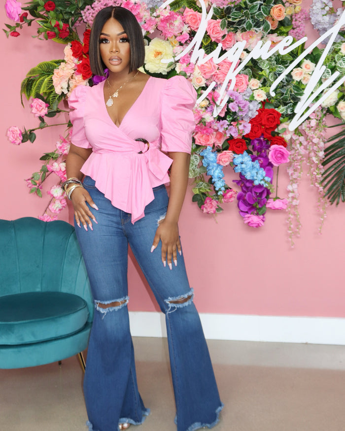 "The ""Daytime Brunch"" Pink Top"