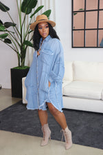 "The ""Denim Oversized"" Light Wash Dress"