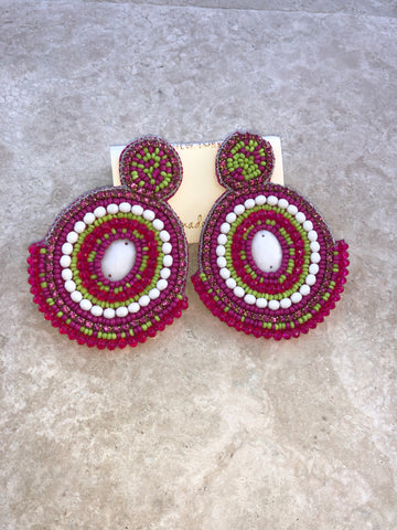 "The ""Baha"" Purple Earrings"