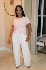 "The ""Walk with Me"" Linen White Pants"