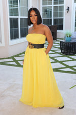 "The ""Jazz it Up"" Yellow Jumpsuit"