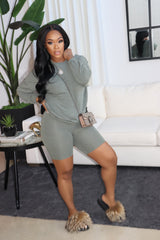 "The "" Chill Mode"" Olive  Set"