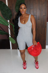 "The ""On the Go"" Grey Jumpsuit"