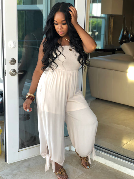 "The ""Natural"" Bow Jumpsuit"