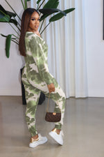 "The ""It's a light Day"" Green Jumpsuit"
