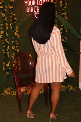"The ""Peach Me"" Stripe Dress"