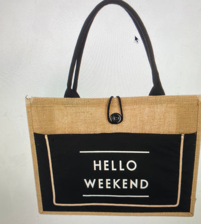 "The ""Hello Weekend"" Black Bag"